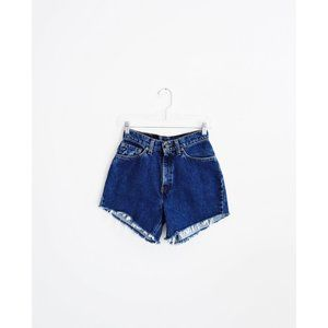 Vtg Levi's Blue High Rise Jean Shorts 26 27